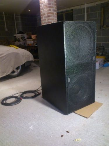 one of the subs I built about a month ago, used tuff cab for that.